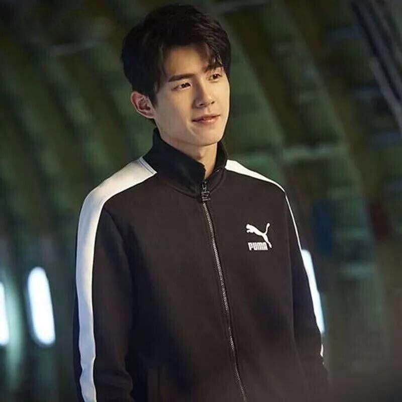 puma彪马李现韩商言同款男套装T7外套休闲夹克运动跑步长裤595976