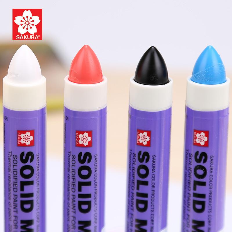 樱花XSC固体油漆笔 樱花固体笔 高温笔工业金属记号笔 水中书写笔不掉色粗防水大头笔重点学生