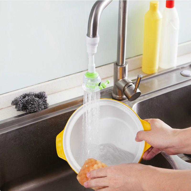 厨房水龙头花洒节水器可旋转防溅花洒过滤阀节省水洗菜水龙头喷头