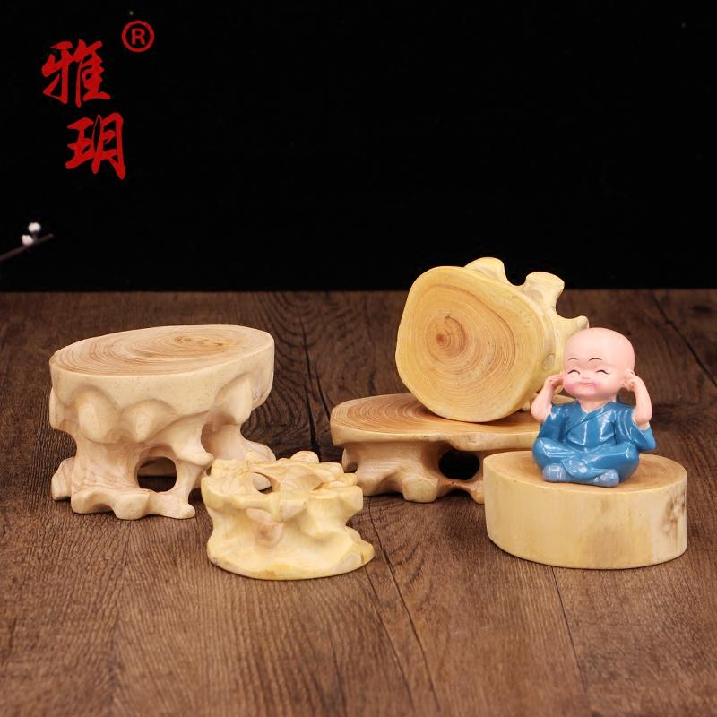 擺件石頭奇石花瓶香爐茶壺紅木木質工藝品實木底座圓形杯墊小根雕