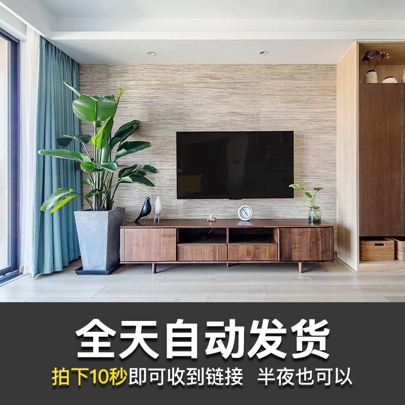 客厅电视墙现代简约装修效果图北欧欧式美式新中式室内软装设计