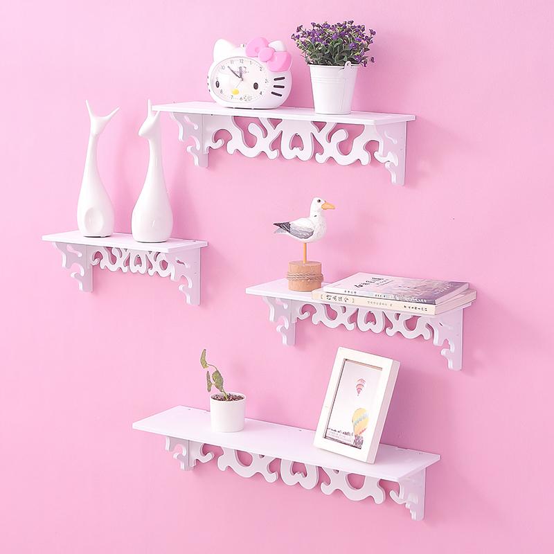 创意家居装饰品田园墙面隔板搁板壁挂墙架置物架层架挂架装饰架