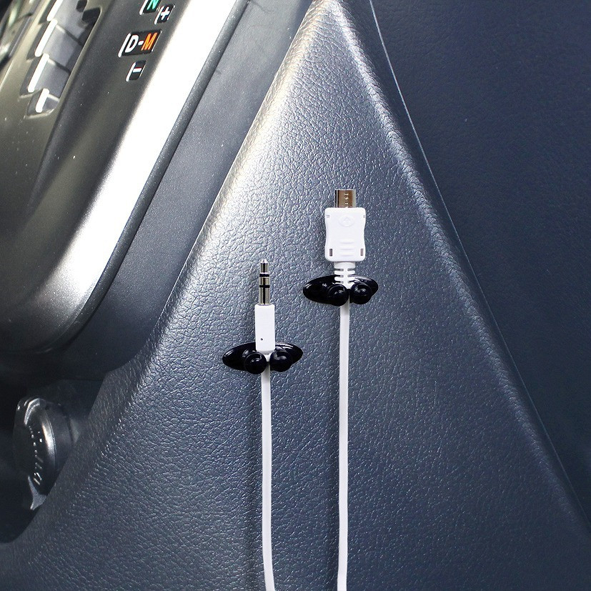 汽车线卡车内多用途便利束线夹 耳机线排线夹整理夹固线卡扣用品