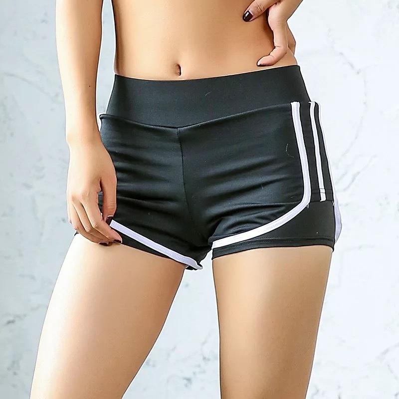 韓國夏健身運動短褲女跑步褲 防走光短褲緊身速幹褲子馬拉松熱褲