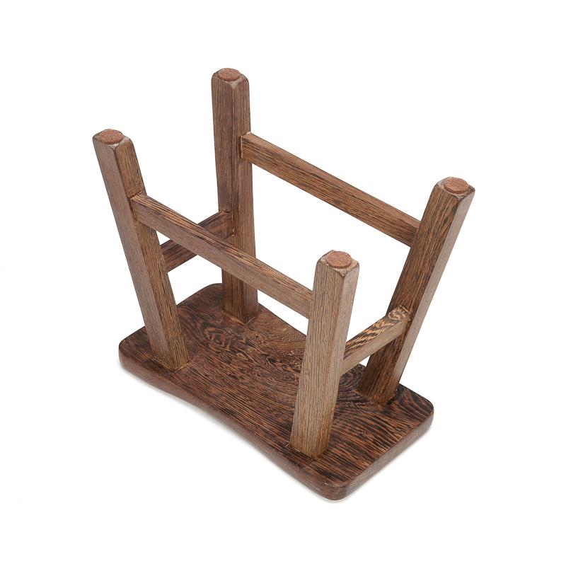鸡翅木质朴田园长凳子 实木餐凳无漆换鞋凳家用板凳 原木高凳子