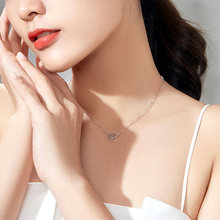 Zhou Dasheng platinum necklace female PT950 love heart-shaped necklace authentic holiday platinum clavicle chain for girlfriend pendant