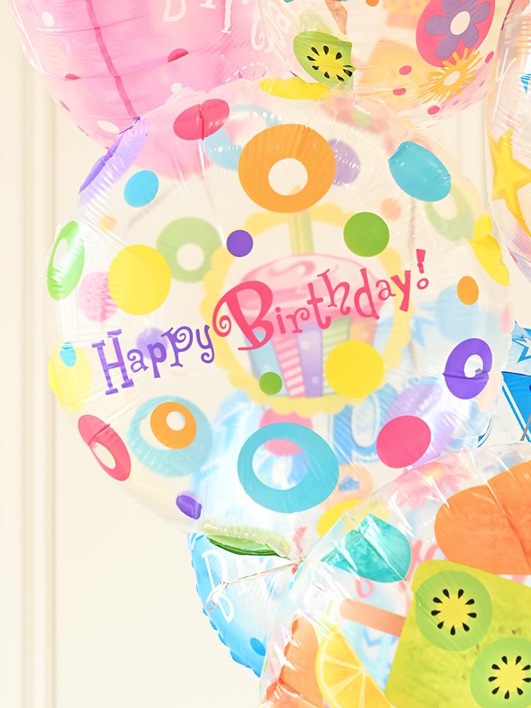 18寸生日气球装饰布置儿童宝宝周岁派对场景布置用品卡通气球铝膜