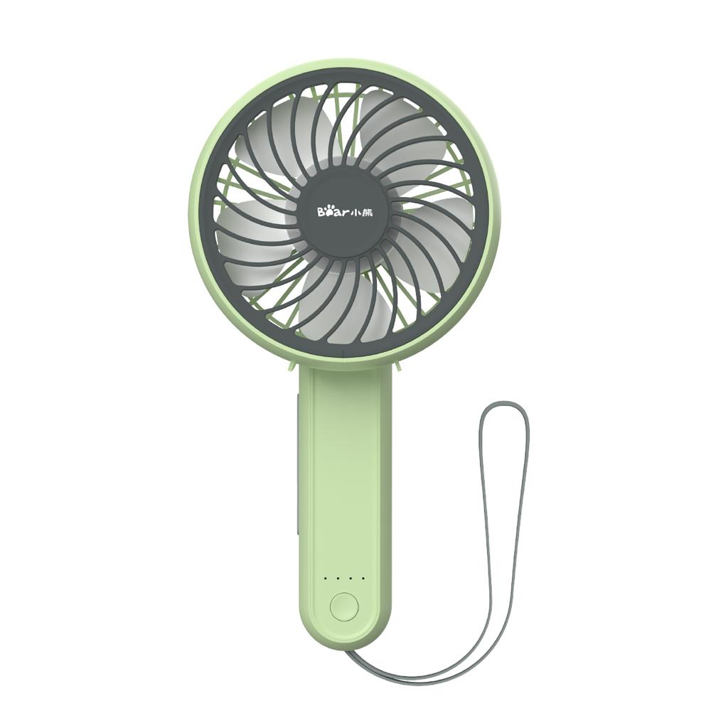 小熊USB小风扇迷你可充电办公室桌面静音随身便携式学生宿舍床上电扇手拿大风力桌上可爱小型网红台式电风扇