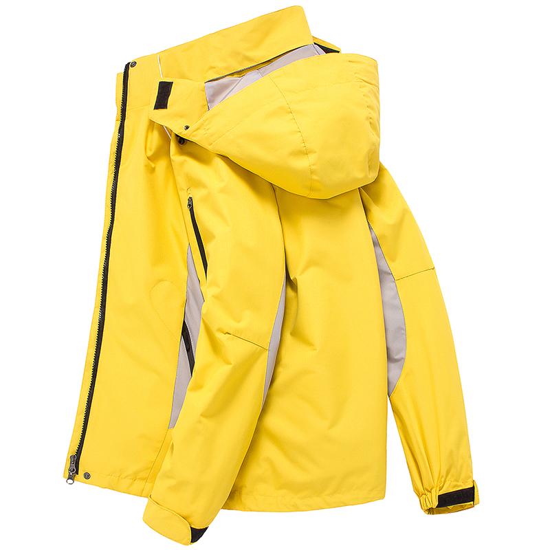 户外秋冬季潮牌冲锋衣女三合一两件套可拆卸加绒加厚大码登山服男