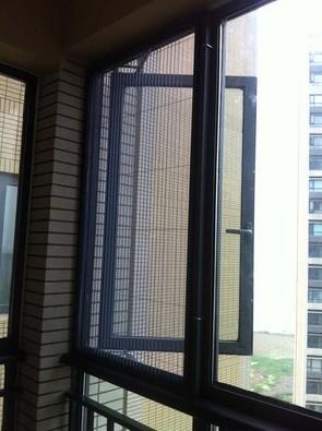 订做纱窗隐形纱窗风琴式纱窗纱门推拉隐形纱窗门铝合金纱窗