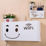 Wireless wifi router shielding box shelf wall hanging decorative cat storage box rack set-top box rack free of holes