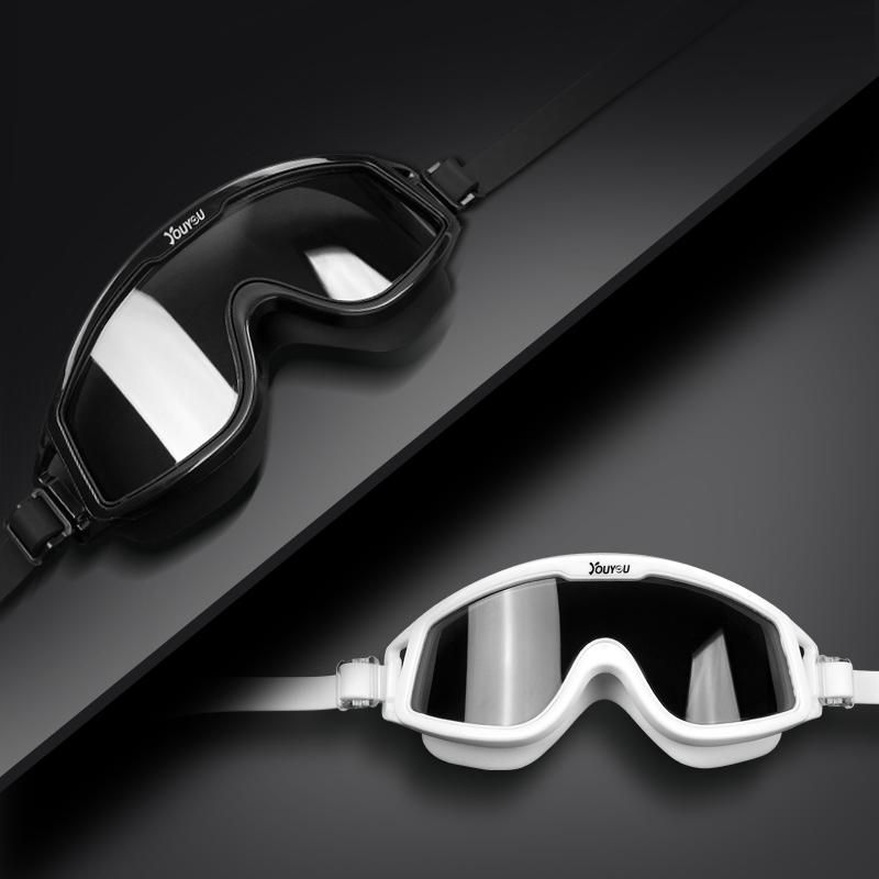 泳镜大框近视度数高清防水防雾游泳眼镜男女成人儿童装备送泳帽【图4】