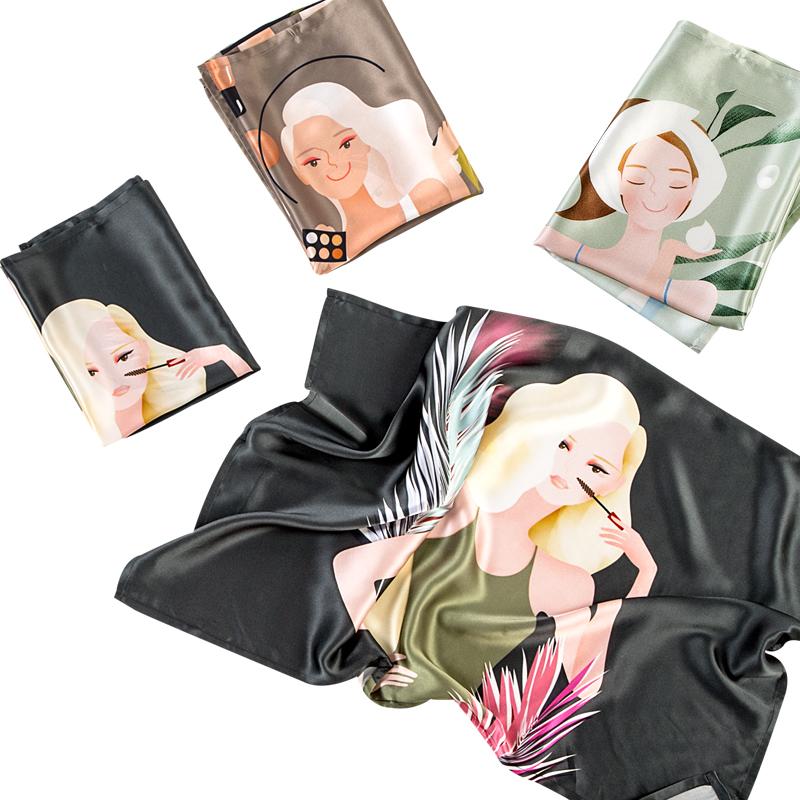 嘉丝丽真丝枕巾四季100桑蚕丝绸枕巾枕套加厚真丝印花枕巾新