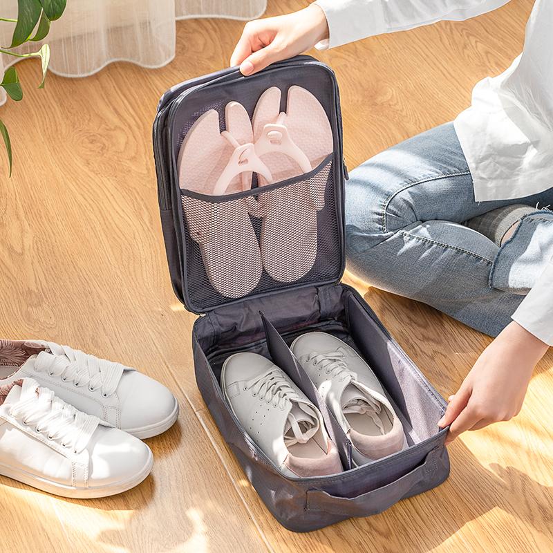 旅行裝鞋子的收納袋鞋包袋子神器行李箱神多功能多雙旅遊鞋袋便攜