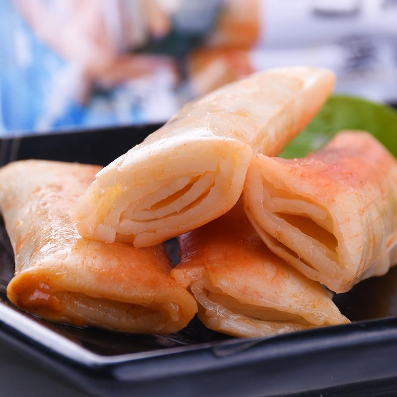 海欣手撕蟹柳棒320g蟹肉棒蟹棒即食蟹卷香辣味寿司蟹足棒海味零食