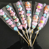 10 creative marshmallows, sugar gourds, net red cotton skewers, rock candy gourd, cartoon skewers