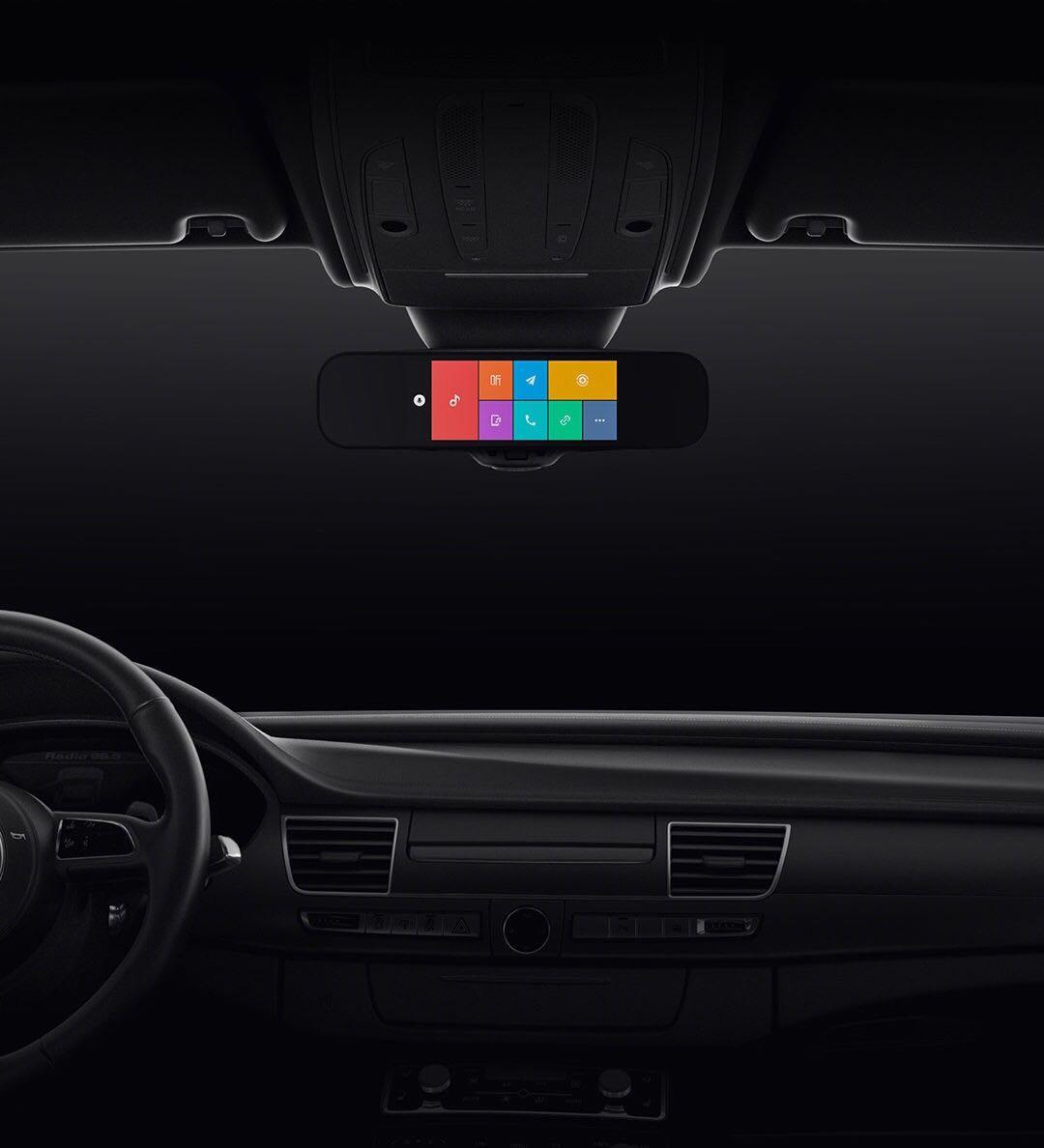 驾驶辅助系统 ADAS 高清行车记录仪 1080P 卡小米米家智能后视镜 32g 送