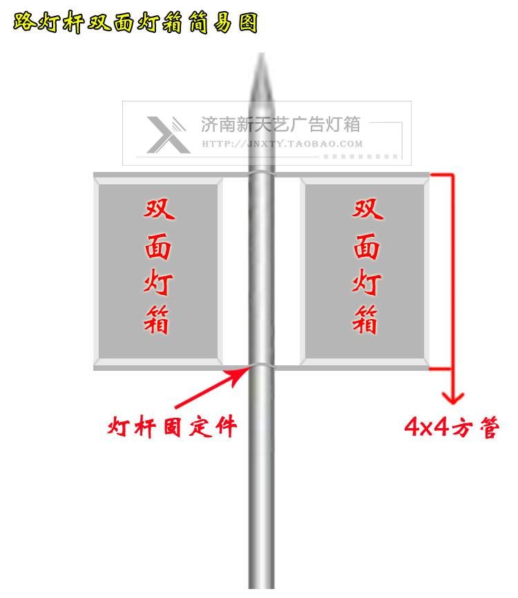 双面灯箱吸塑悬挂广告铝型材路灯杆吊牌挂牌超薄LED拉布灯箱定做
