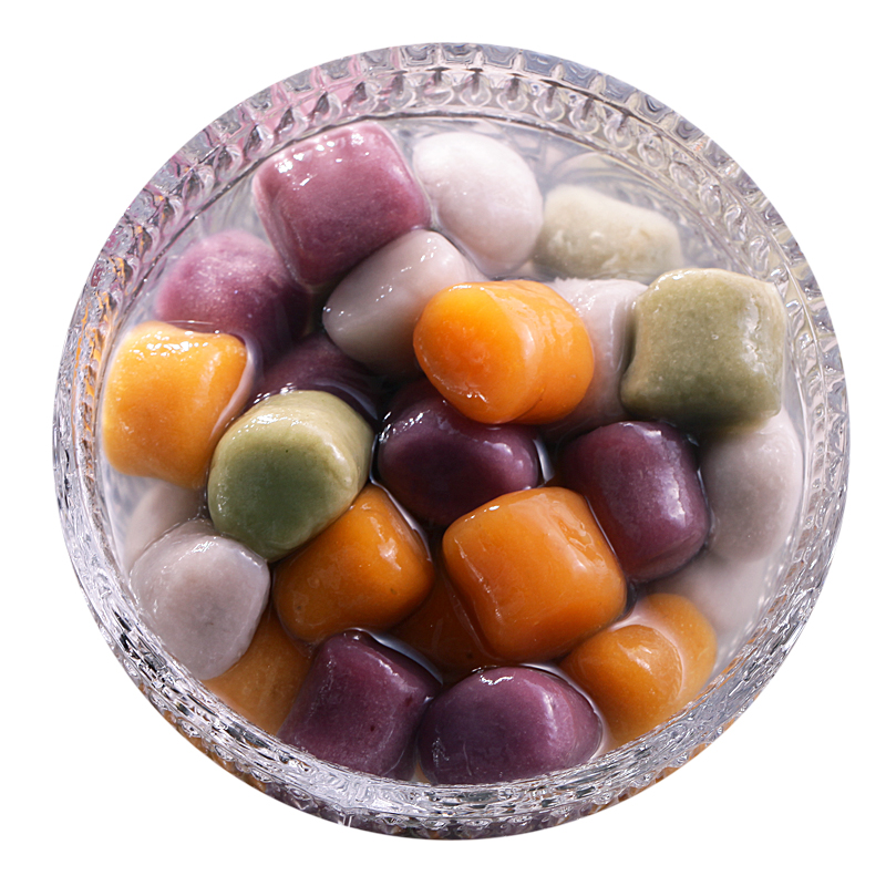 台湾风味传统大芋圆成品材料鲜芋仙烧仙草套餐纯手工奶茶店专用