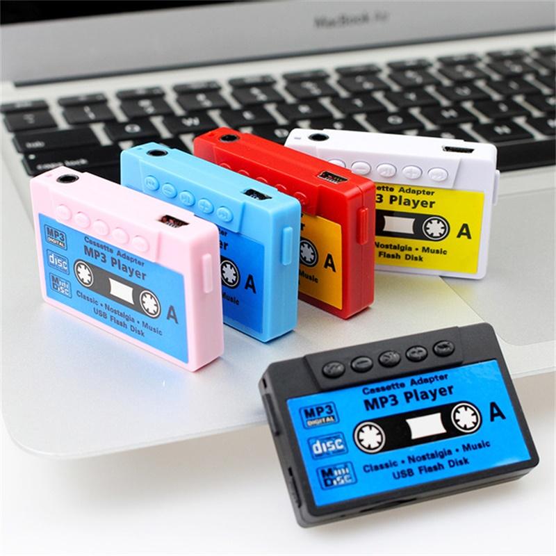 經典懷舊迷你錄音機磁帶款插卡式MP3播放器運動跑步聽歌包郵