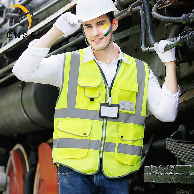 cnss反光背心马甲安全服骑行交通驾驶员施工地反光衣环卫工人车用