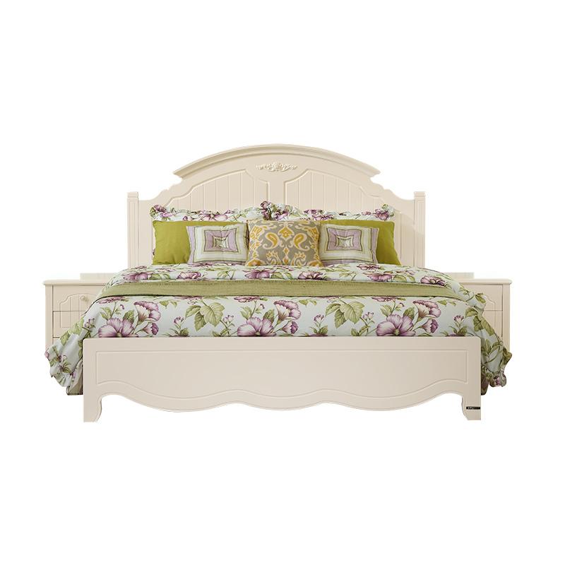 120610 床板式双人床 1.8m 韩式田园公主床卧室家具床 全友家居