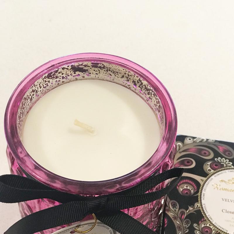 天然椰子蜡丝带装饰香薰蜡烛植物精油样板房客厅薰衣草蜡烛礼盒