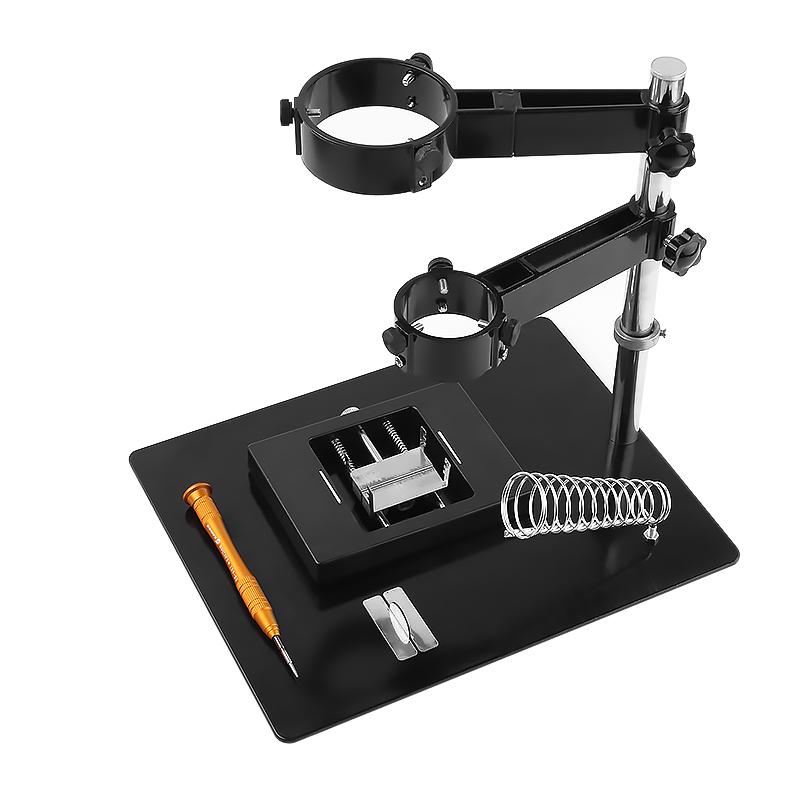 大小两用热风枪支架 带台灯放大镜 焊接维修平台手机BGA植锡