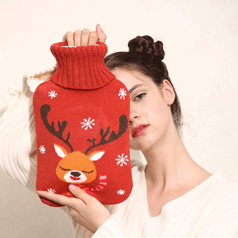 热水袋注水暖宫可爱热宝暖手宝小号暖宝宝橡胶大号学生防爆暖水袋