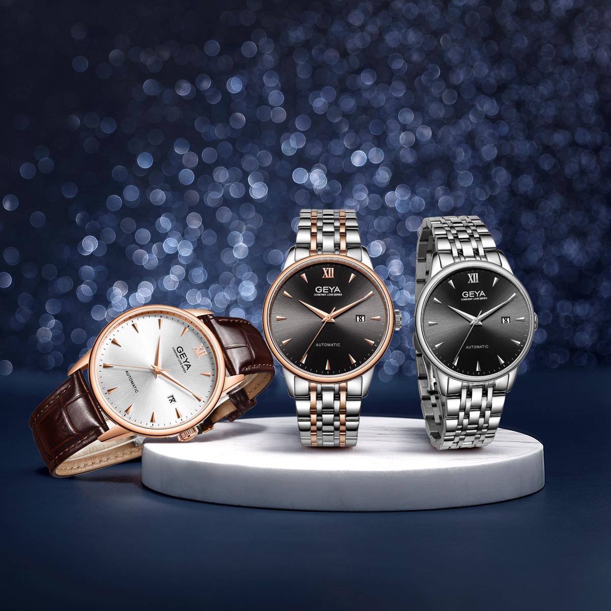 2019 新款男士商务男表 格雅手表男机械表男款正品名牌潮流国产腕表
