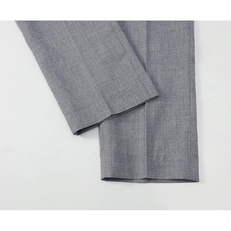 新款夏季装MUSLUN潮牌基本款修身小脚西裤男帅气灰色裤子百搭上班