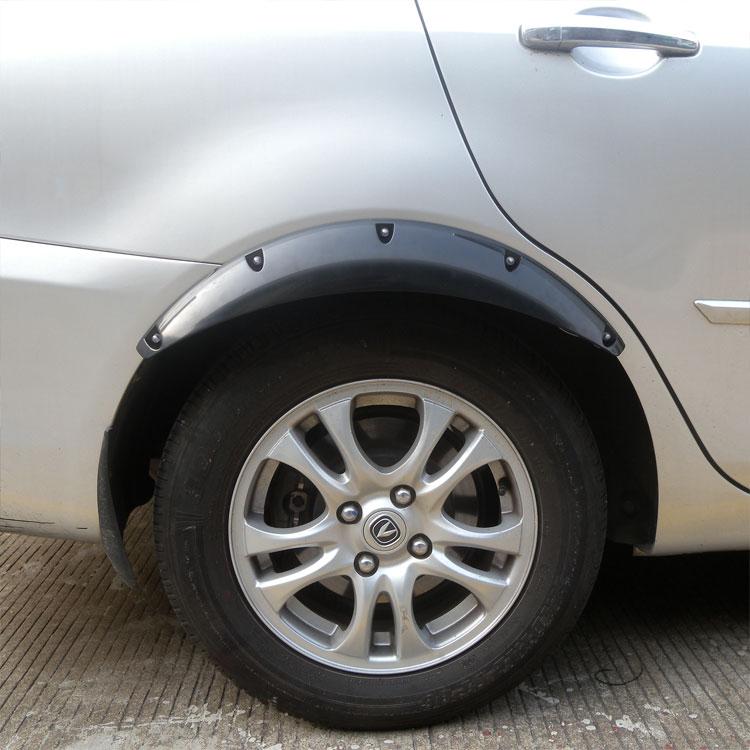 新款汽车轮眉轮弧小车通用装饰防擦条碳纤维轮边大包围加宽轮眉