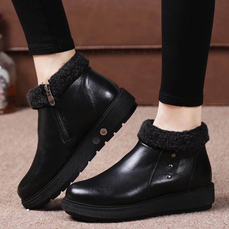 大脚狼电热鞋锂电池电暖鞋充电可行走冬季加热保暖加绒休闲皮鞋女