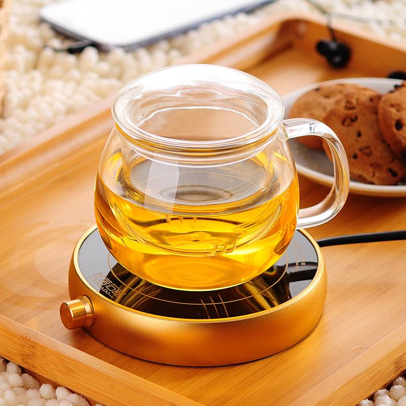 左茗右器 耐熱玻璃杯過濾茶杯子可保溫杯恆溫寶套裝帶蓋透明水杯
