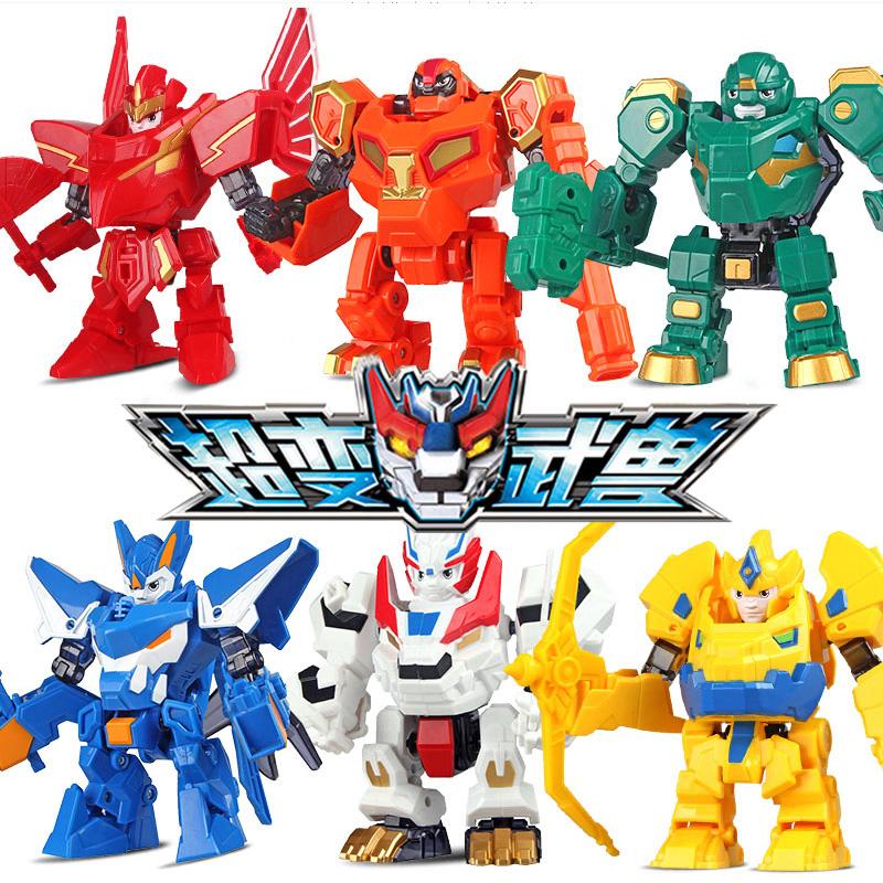 奥迪双钻超变武兽玩具变形玩具机器人手动变形武兽卓锋泰戈亚狮