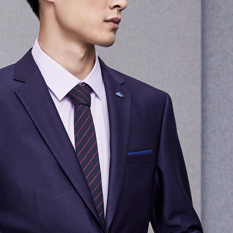 HLA/海澜之家修身礼服套装2018热卖婚庆西服套装男