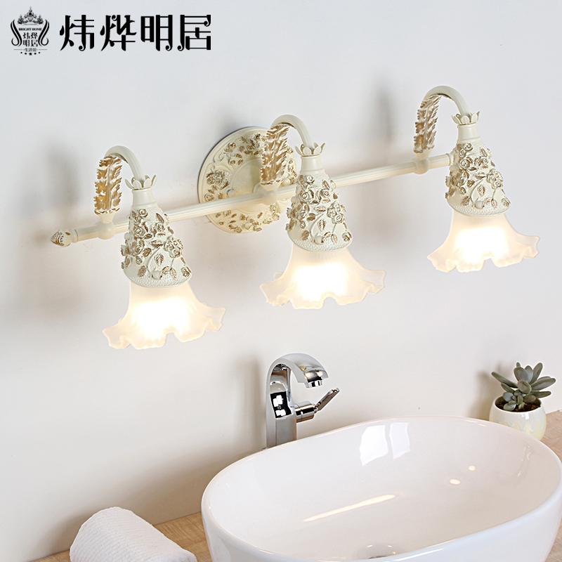 欧式镜前灯浴室卫生间洗手间led镜灯壁灯简约奢华梳化妆镜柜灯具