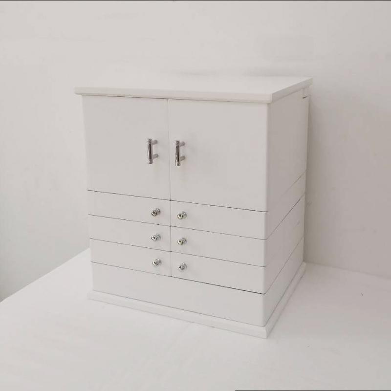 化妆盒创意多层复古首饰盒实木欧式公主韩国饰品戒指耳环收纳盒大