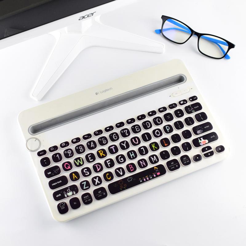 Logitech羅技K380/K480鍵盤保護貼膜無線藍芽貼紙透明全覆蓋