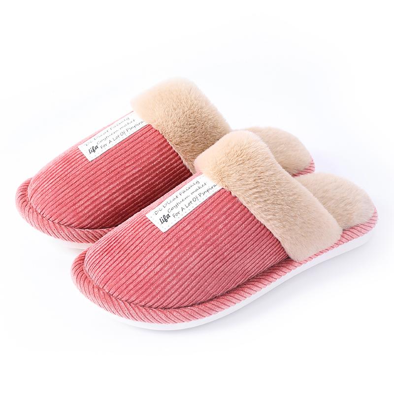家居棉拖鞋女秋冬季外穿防滑情侣地板室内居家