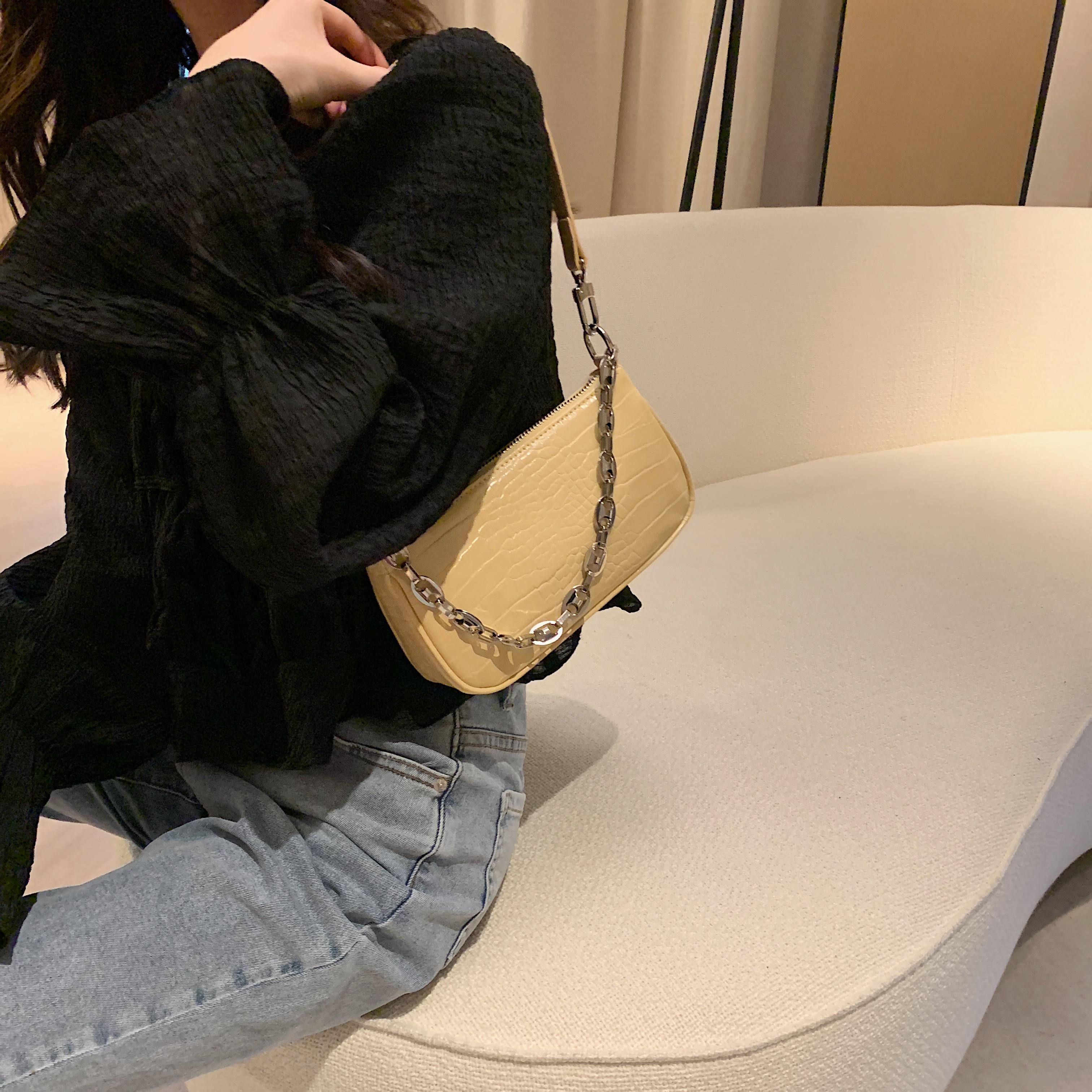 百搭链条单肩斜挎包 ins 新款潮网红小包包女 2020 色腋下包 6 南风
