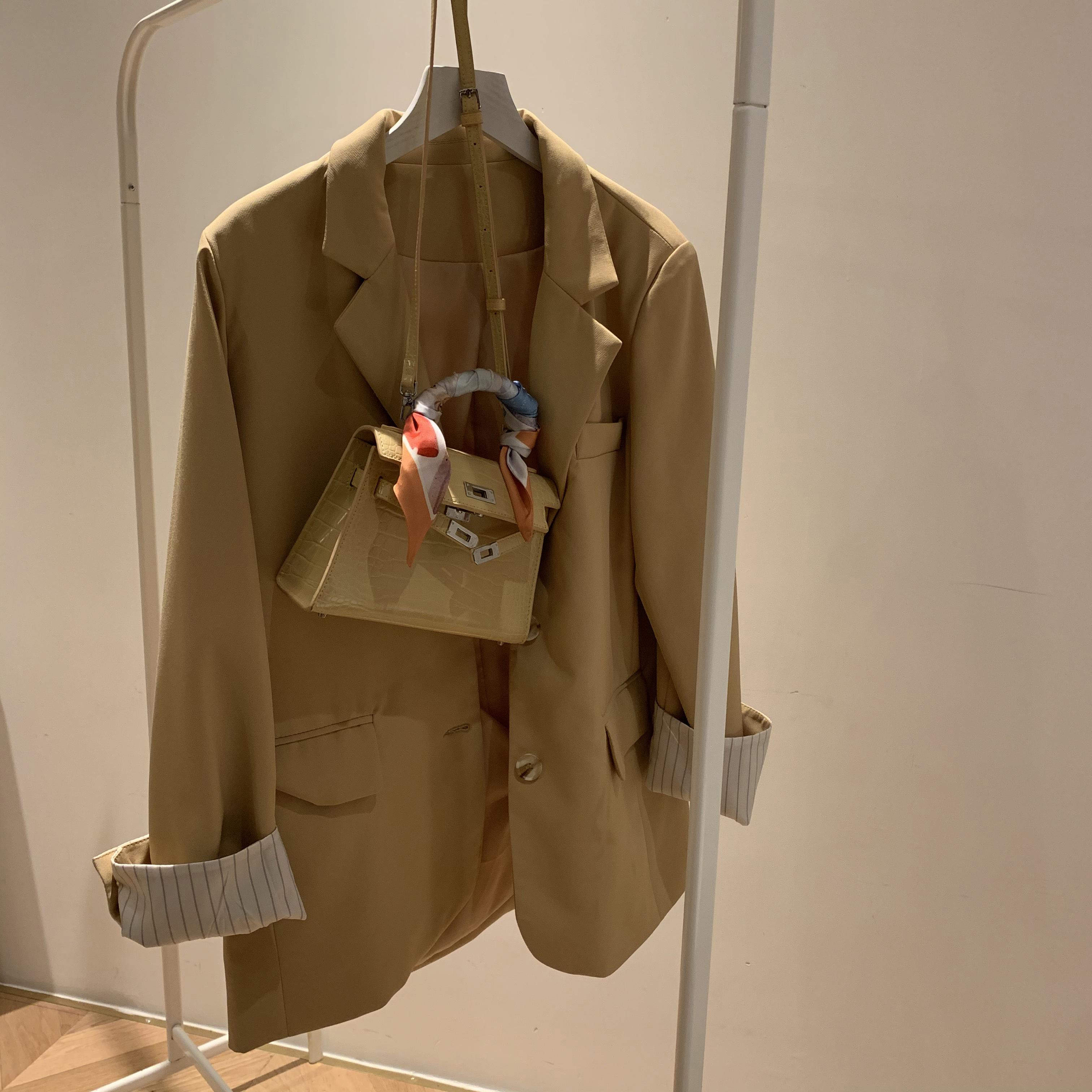 新款潮时尚单肩斜挎包 2021 手提丝巾凯莉包包女 海棠 yu 大 南风