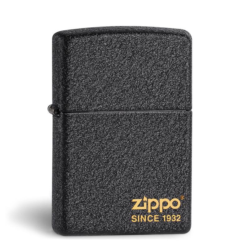 官方原装zippo打火机正版 磨砂黑裂漆236 男士限量 zppo正品火机
