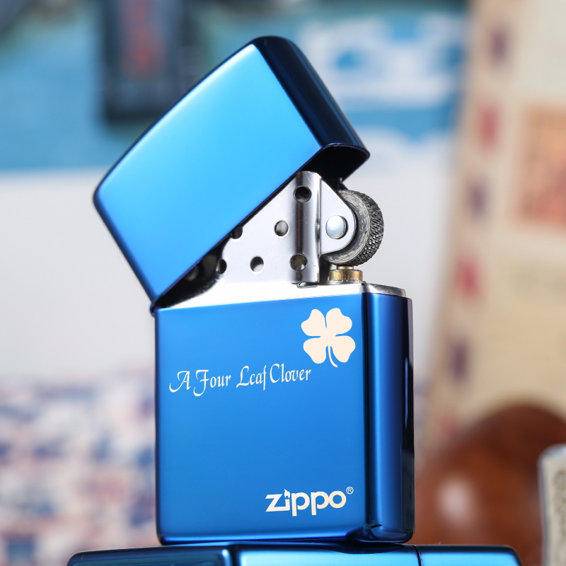原装打火机zippo正版 蓝冰标志20446ZL 男士限量zppo正品火机定制