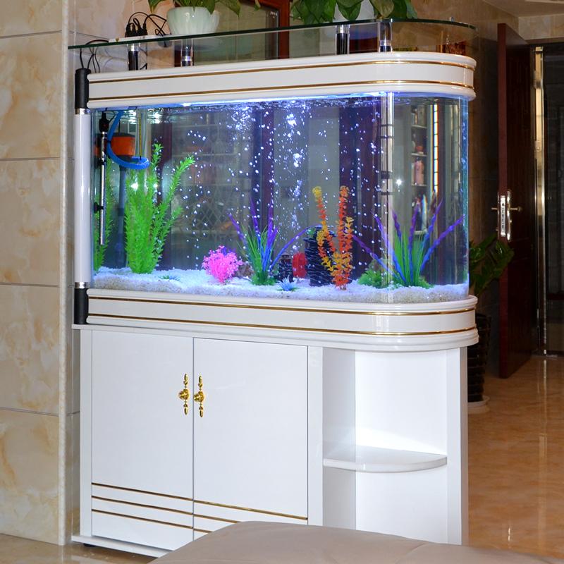 子弹头生态鱼缸水族箱客厅家用玻璃中型小型懒人鱼缸免换水隔断缸