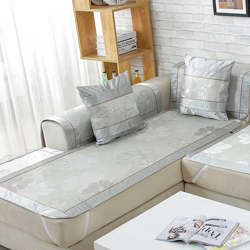 夏季沙发垫夏天款冰丝凉席垫沙发坐垫子客厅防滑全包萬能沙发套罩
