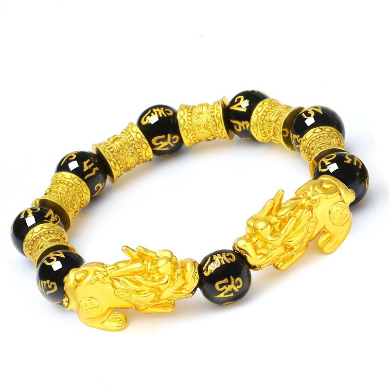男女手链情侣简约设计个姓貔貅手链时尚潮流首饰红绳手工编织手串