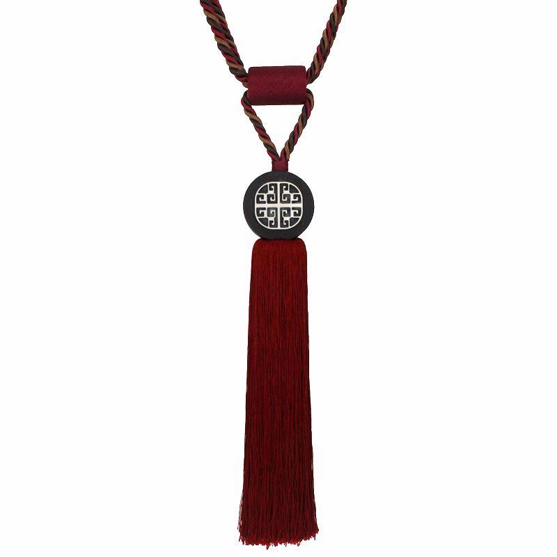窗帘绑带绑绳挂球新中式古典挂钩扎带高档一对装饰吊球长流苏辅料