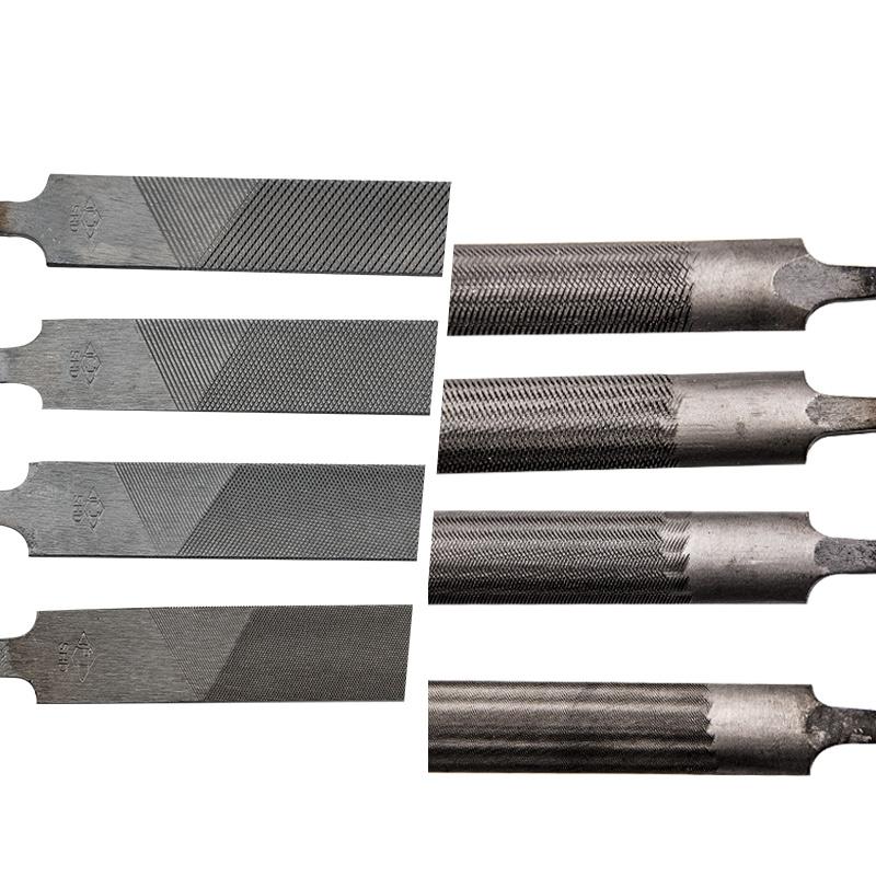 沪工牌细齿尖扁锉刀钢锉金属精细油光锉刀细齿半圆锉刀细齿平锉刀
