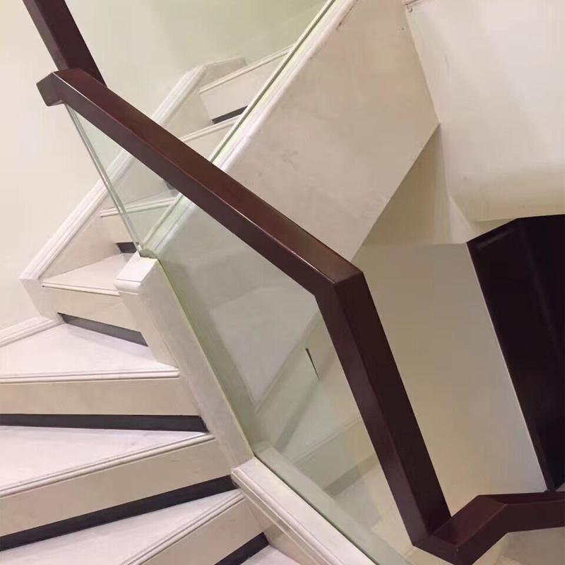 北京实木钢木楼梯铁艺玻璃扶手阳光房别墅阁楼梯厂价定制翻新踏板